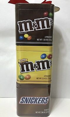 Mars Gift Tins With Candy (M&m Milk Chocolate+M&m Peanut+Snickers)+