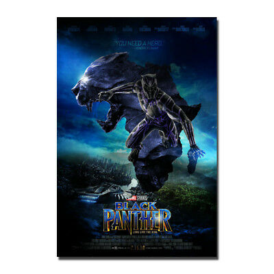 Black Panther Movie 2018 Comic Art Canvas Poster 8x12 24x36 inch