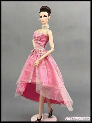 Barbie Doll Clothes GLAMOUR Pink Evening Dress/Clothing/Outfit/Wedding/Evening/