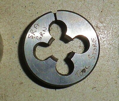 """S.A.E. UNF NF 9/16"""" X 18  tpi. OD 2 1/2"""" HSS split die button. CTD made in USA"""