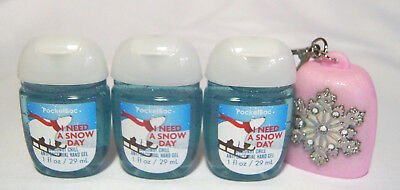 💚 Bath and Body Works I NEED A SNOW DAY 3-Pack PocketBac Snowflake Clip Holder