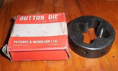 "BSF 7/8"" X 11.  P&N OD 2 3/16"" HSS split Die Button, NEW"