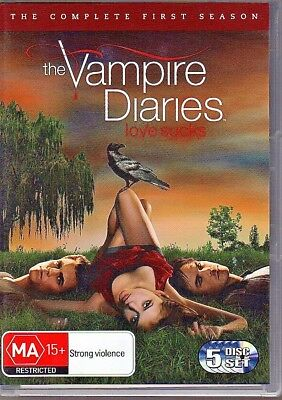 THE VAMPIRE DIARIES - DVD R4 (2010) The Complete First Season - 5-Disc Set VG