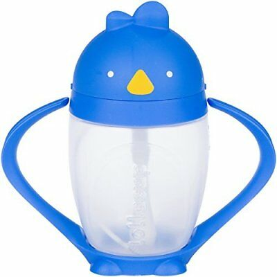 Lollaland Lollacup, Blue | 10 oz Straw Sippy Cup with Weighted Straw