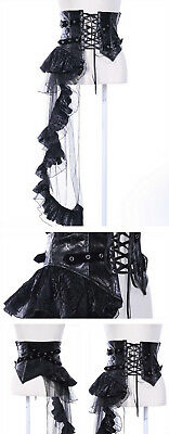 RQ-BLGothic Waist Girdle With Net And Lace Frill Gürtel  Rock Corset  Steampunk