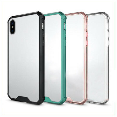 Shockproof Armor Clear Case For iPhone X 8 7 6 Plus Transparent Back Cover A2Y2