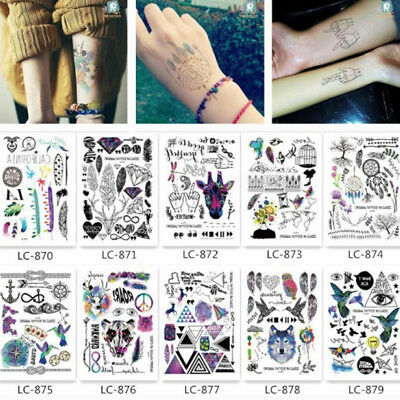 Autocollants de Tatouage Temporaire Imperméable Body Art Tattoo Cool Sticker