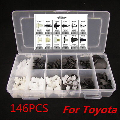 146Pcs Fender Door Hood Bumper Trim Clip Body Retainer Assortment High Quality