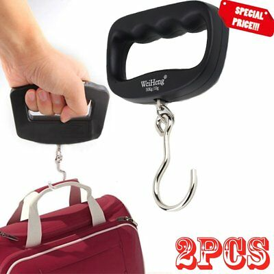 2Portable 50kg/10g LCD Digital Fish Hanging Luggage Weight Electronic Hook Scale
