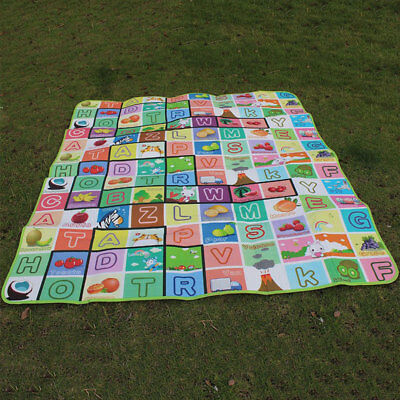 2X1.8M Waterproof Baby Crawl Play Kids Foam Floor Puzzle Blanket Picnic Rug WELL