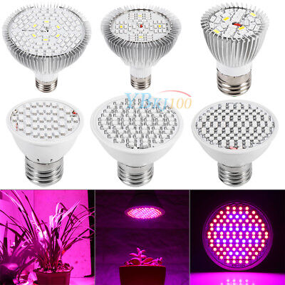18~80W LED Grow Light E27 Growing Bulb Lamp for Plant Hydroponic Full Spectrum J