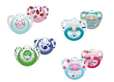 NUK Genius/Happy Days Silicone Soothers 2PK