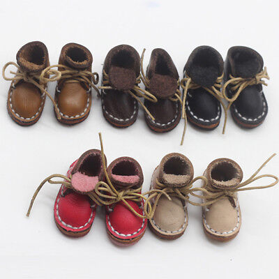 1Pair New Fashion Handmade PU Leather Shoes Boots Doll Strap Toy Gifts.. good