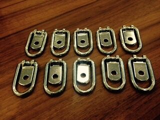 10 X Lashing Rings & Staple Cleat Tie Down Trailers Vans Truck Horseboxes