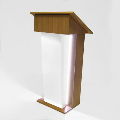 LED Illuminated Exhibition Presentation Lectern Podium Event Prop - UK