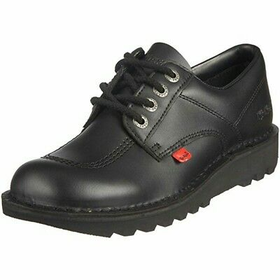 Kickers Kick Lo Men Black Leather Shoes, UK Sizes 6.5/7/8/9/10/10.5/11