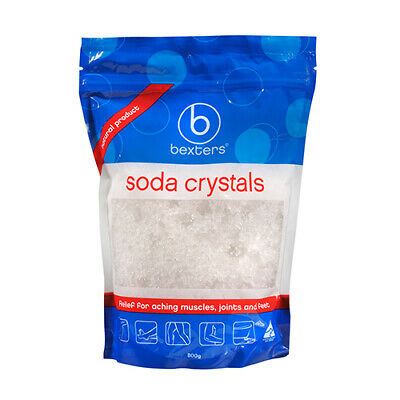 NEW Bexters Soda Crystals Ideal For Sports Injuries And Aching Muscles 800g