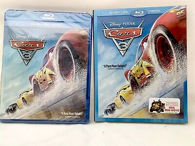 Disney Pixar Cars 3 (Blu-ray + DVD + Digital HD) Movie BRAND NEW with Slip Cover