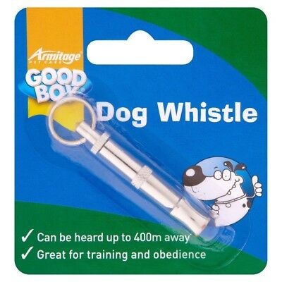 Armitage Good Boy Dog Whistle Silver Colour - HEARD BY A DOG UP TO 400m - Train