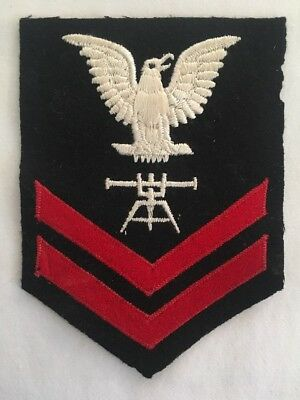 WW2 WWII U.S Navy 2nd Class Petty Officer Fire Control Technician FT Rate Patch