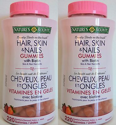 NATURE\'S BOUNTY Hair, Skin & Nails with Biotin -- 220 Gummies ...