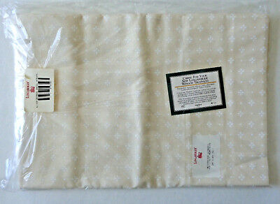 """NWT Longaberger Drapery Curtain Panel WOVEN TRADITIONS NATURAL 48"""" x 86"""" 273326"""