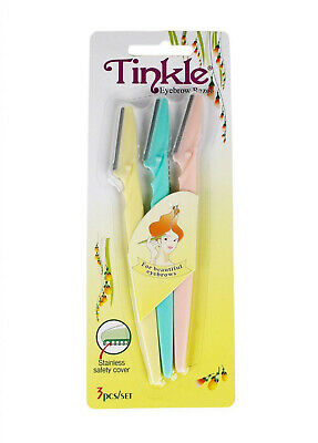 3 TINKLE Razor Eyebrow Shaper Trimmer Twinkle Face Bikini Hair Removers NEW