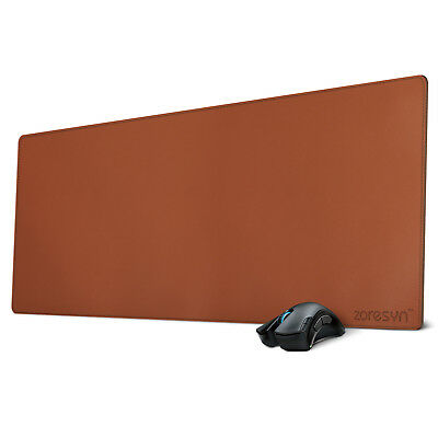 Extended PU leather Desk Mat Non-slip Gaming Mouse Pad 35.5x15.5 inch