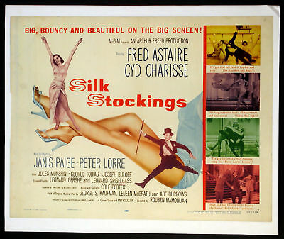 Silk Stockings Fred Astaire Cyd Charisse 1957 Half-Sheet