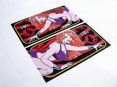 Stern AC/DC Pinball Instruction Cards featuring Luci - Custom Designed