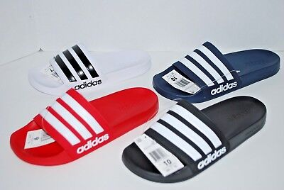 ee5b5c003 NWT ADIDAS ADILETTE CF SLIDES BLACK RED WHITE GREY NAVY 4-13 mens shower  sandals