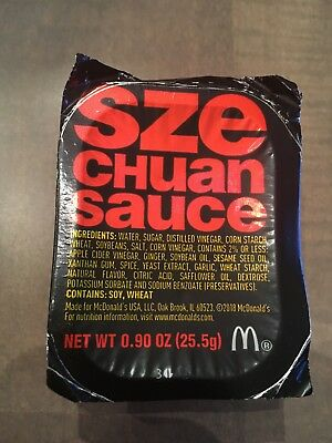 McDonald's Szechuan sauce. Rick and Morty. Unopened! RARE! Pack of one