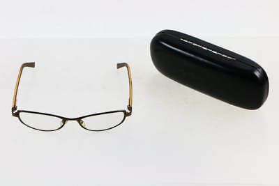 Gucci British Saddle Brown Framed Oval Clear Lens Prescription Sunglasses