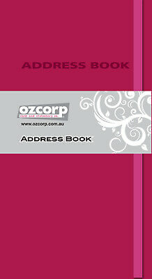 Ozcorp Slim Address Book Contempo Pink