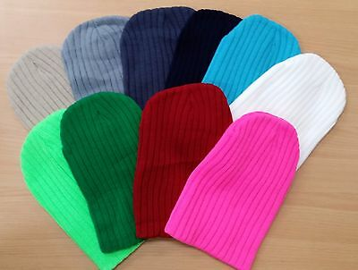 Unisex Mens Ladies Stripes Knit Beanies Winter Hats