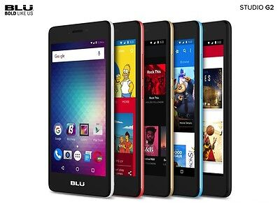 BLU Studio G2 Android 5'' Display Unlocked 8GB Cell Phone 4G GSM Smartphone