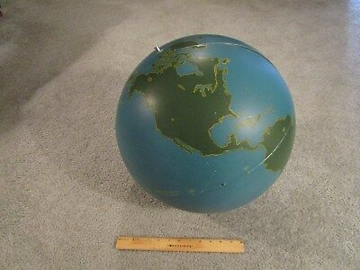 Vintage Metal American Military Aviation World Globe by A. J. Nystrom & Co.