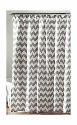 Lush Decor Chevron Shower Curtain 72 X Gray White