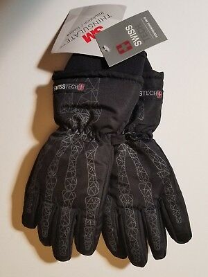 Swiss Tech Insulated Boys Youth Skeleton Hands Snow Ski Gloves Size Sm/Med NWT