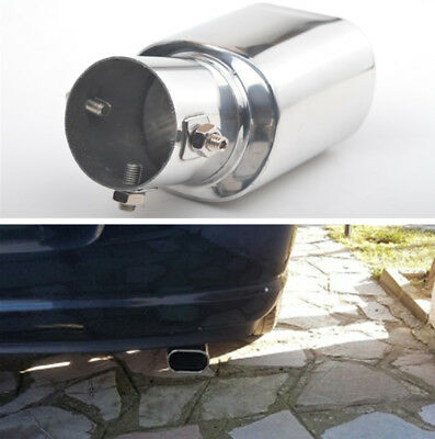 63mm Stainless Steel Exhaust Tails Rear Tail Silencer Tip Pipe End Curved Square