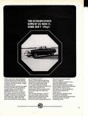 Original Print Ad-1965 THE OCTAGON SPIRIT:Some of us have it. Some don't Pity-MG
