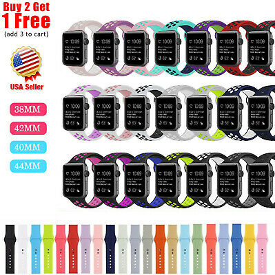 PASBUY 83C Silicone Replacement Strap Watch Band for Apple Watch Series 3 2 1