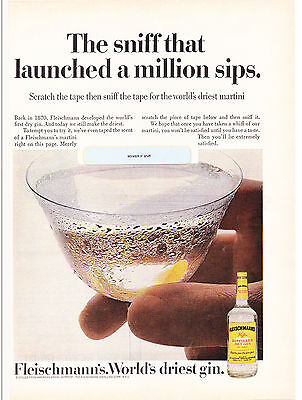 Original Print Ad-1972 The sniff that launched a million sips. FLEISCHMANN'S GIN