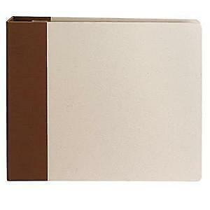 NEW American Crafts  D-Ring Albums 12X12 - Chestnut