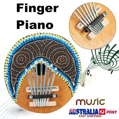 7 Key Kalimba Finger Thumb Piano Tunable Coconut Shell Musical Instrument Toy