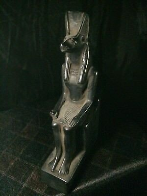 RARE ANCIENT EGYPT EGYPTIAN Antique GOD ANUBIS Dog STATUE Stone 2685-2180 Bc