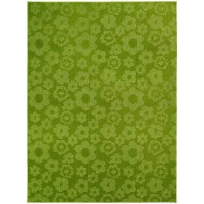 Garland Rug Flowers Lime 5 Ft X 7 Ft Home Decor Area Rug Living Room Green New
