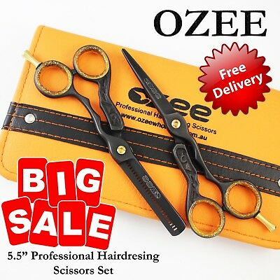 Professional Barber Hair Cutting & Thinning Scissors Shear Hairdressing Sets