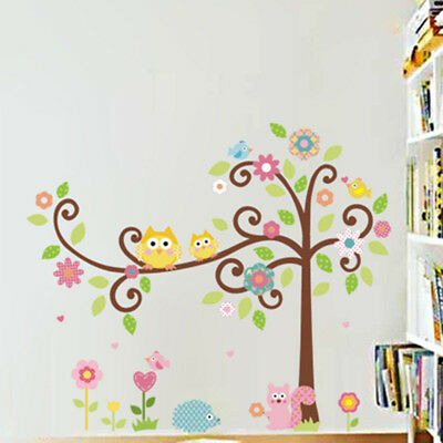 woodland mural nursery stickers gruffalo kids Peeping Squirrel Wall Decal