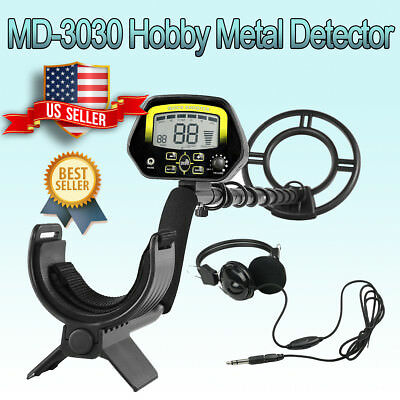MD-3030 LCD Metal Detector Kit Sensitive Search Treasure Hunter Waterproof Coil